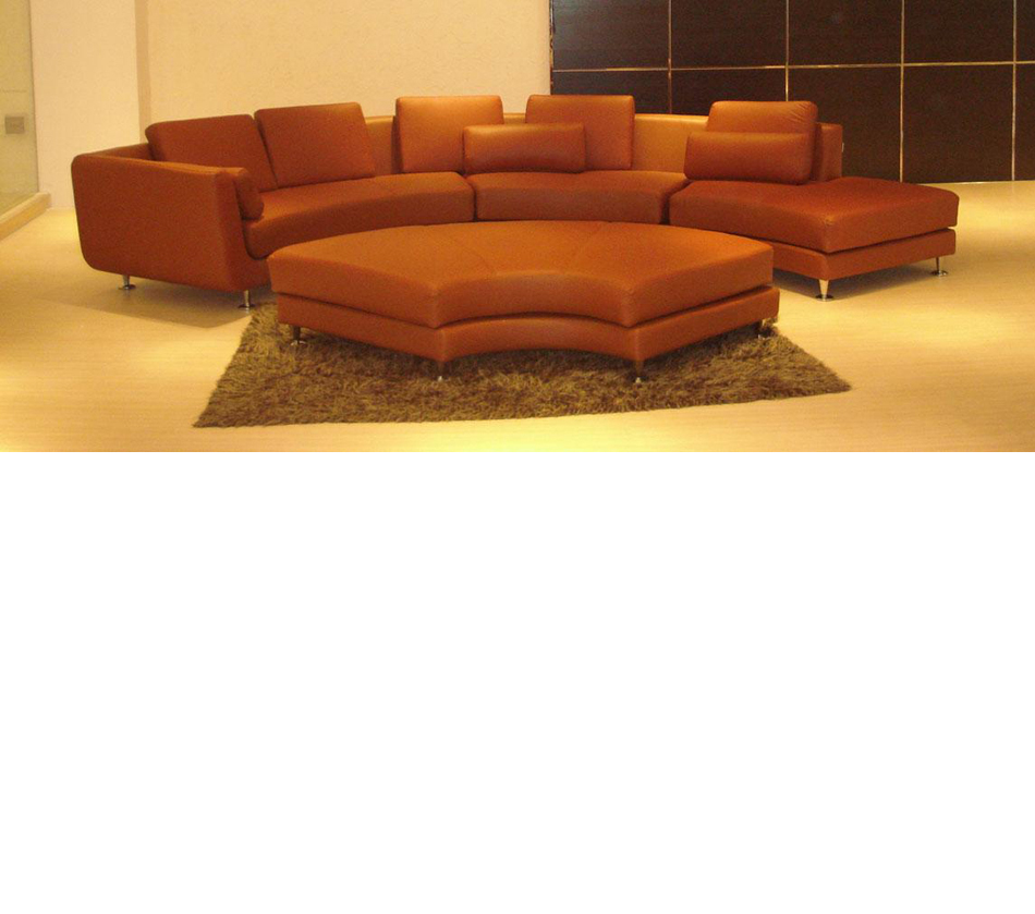 Dreamfurniture Com Divani Casa A94 Contemporary Brown